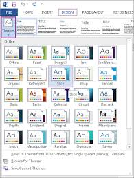 Word 2013 Themes Templates And Themes Hss It Nc State