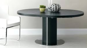 round dining room tables with leaf large round black extending dining table