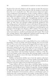 cognitive foundations for early mathematics learning  page 84