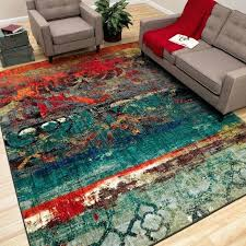 blue area rugs 5x8 rhapsody multi rug 5 x 8 free shipping today with bright colored e49