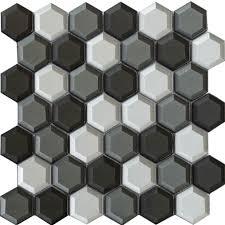 glass mosaic tile bathroom