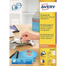 Avery Labels Dvd Avery Afterburner Cd Dvd Label System Kit Ab1800 Glen Office