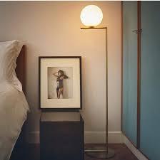 floor lamp office. Modern LED Floor Lamp Light Moon Glass Office With Milk White