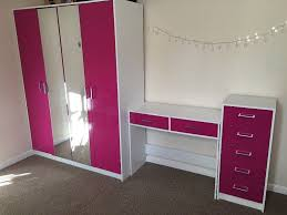 dressing room furniture. Pink Gloss Bedroom Furniture Set (double Wardrobe, Shelves, Dressing Table, Drawers) Room