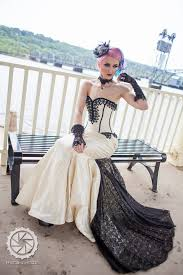 mermaid wedding dress goth gothic bridal steampunk gown