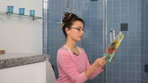 Girl shits in toilet
