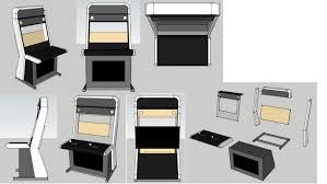 50 vewlix arcade cabinet plans kitchen island countertop ideas