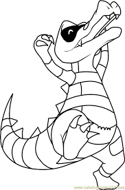 Small Picture Krokorok Pokemon Coloring Page Free Pokmon Coloring Pages