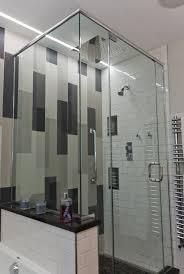 Modern bathroom design, Recessed LED accent lighting, gray, white ...