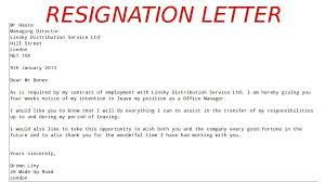 format for resignation letters template format for resignation letter of resignation samples template