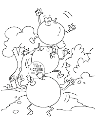 Apple Tree Coloring Pages To Print Free Apple Coloring Pages