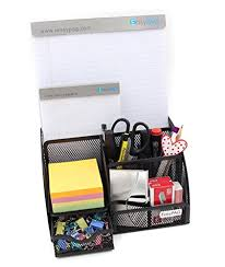 neat office supplies. EasyPAG Mesh Desk Organizer 6 Compartment Office Supply Caddy With Drawer Pencil Holder ,Black Neat Supplies