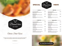 Free Catering Menu Templates For Microsoft Word Restaurant Menu Templates Free Download With Dinner Plus