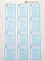 cleaning checklists basic kitchen cleaning checklists set of 12 item 766 etsy