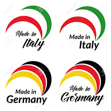Italian Logos Simple Logos Made In Italy Made In Germany Vector Logos With