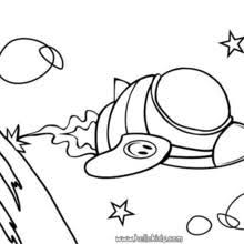 Small Picture Alien in the spaceship coloring pages Hellokidscom