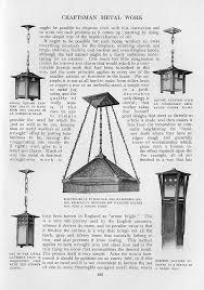craftsman homes by gustav stickley 1909 craftsman metal work designed and made craftsman lampscraftsman lightingcraftsman