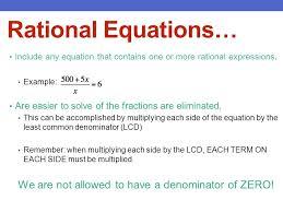 3 rational equations