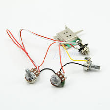 guitar wiring harness pickup 1v2t 5 way switch 500k pots jack for guitar wiring harness pickup 1v2t 5 way switch 500k pots jack for fender strat description