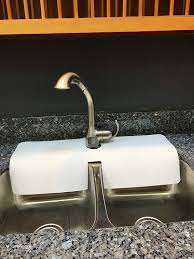 Kitchen Sink Faucet Splash Guardprotects Area Around Faucet From