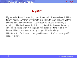 essay writing for children ppt video online  7 myself my
