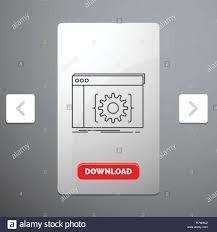 App Slider Design Api App Coding Developer Software Line Icon In Carousal