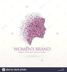 Feminism And Design Woman Face Logo Design For Feminism Concept Stock Vector Art