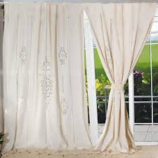 Lace Window Treatments 2017 Customize Tab Top Curtain Linen Lace French Country Cotton