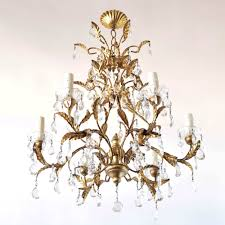 wood iron crystal chandelier from italy