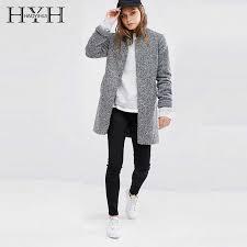 <b>HYH HAOYIHUI Simple</b> Temperament Commuter Basic Outcoats ...