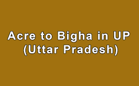 Formula Of 1 Acre To Bigha In Up Uttar Pradesh Land