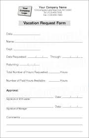 Holiday Request Form Beauteous Vacation Form Ibovjonathandedecker