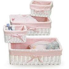 white gingham liner wicker empty gift basket