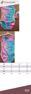 Gymnastics Leotard Size Chart Gymnastics Leotards Nice Pastel Color Square Back Leotard