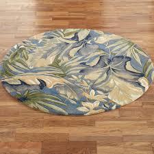 paradise blue round rug
