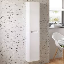 White Bathroom Cabinets Wall 1400 Mm Tall White Bathroom Furniture Wall Hung Cupboard Cabinet