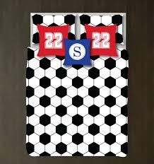 Soccer Bedroom Decor Custom Hexagon Soccer Ball Bedding Set For Kids Teens Shop