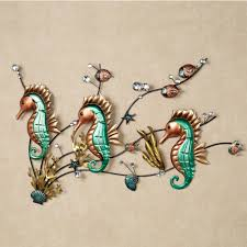 inspirational  on seahorse wall art metal with endearing bathroom nautical bathroom to for decor beach wall decor