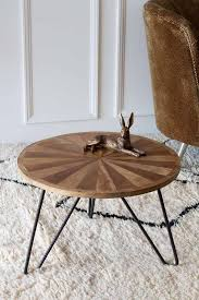 hairpin leg coffee table wooden