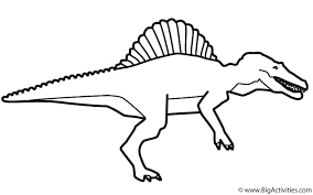 Spinosaurus Coloring Pages Pictures To Print Colouring Chronicles