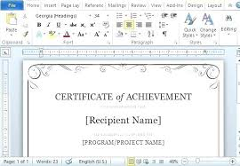 Ms Publisher Templates Free Word Ate Template Of Achievement For Download Publisher
