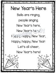 Pocket Chart Poems For Kindergarten New Years Poem For Kids Little Learning Corner