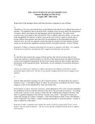 the adventures of huckleberry finn huck finn summer reading essay doc
