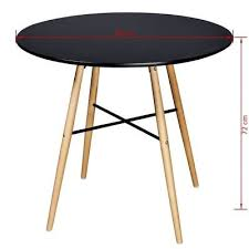 replica retro eames black white round dining table w without chairs kitchen cafe 8