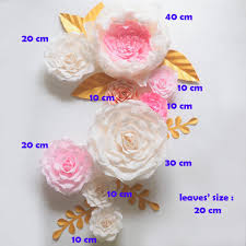 Giant Paper Flower Backdrop 2019 Giant Paper Flowers Backdrop Artificial Handmade Crepe