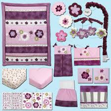 details about pretty in purple 15pc w liner mobile crib bedding set by nojo discontinued
