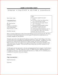 Cover Letter Sample Project Management Cover Letter Sample Project