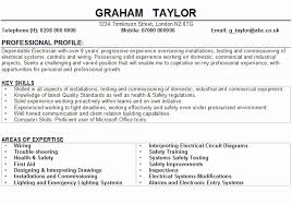 Example Electrician Resume Best Building A Resume For A Elecrical Technician Fresh Electrician Cv