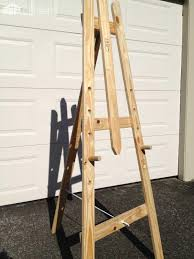 art easel made from repurposed pallet timber