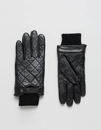Barbour Qulited Leather Gloves In Black – Single Greatest &  Adamdwight.com